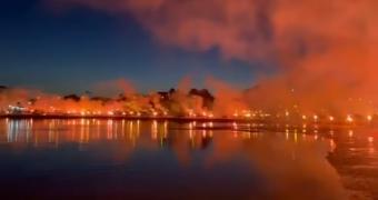 Άναψαν πυρσούς σε όλη την παραλία της Αρτάκης