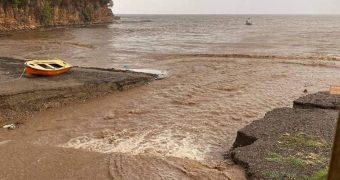 πλημμύρες κατολισθήσεις Βόρεια Εύβοια